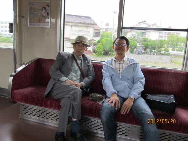 2012.5.21山陽電車内(藤浦さんと)